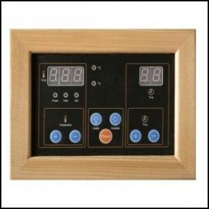Sauna kontrolü hiç bu kadar kolay olmamıştı. Gerek sauna içerisinde gereksede sauna dışarısında bulunan dijital kontrol paneli ile hem çalışma zamanını hemde istediğiniz sauna sıcaklığını ayarlayabilirsiniz.