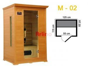 2 Kişilik İnfrared Sauna Kabini